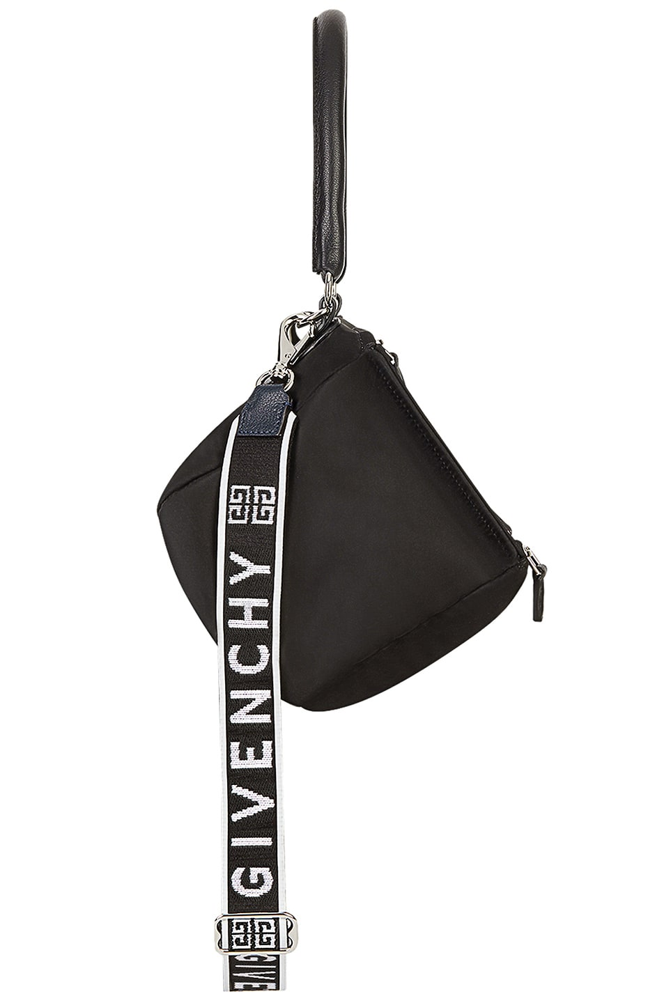 Image 4 of Givenchy Small Logo Strap Pandora in Black