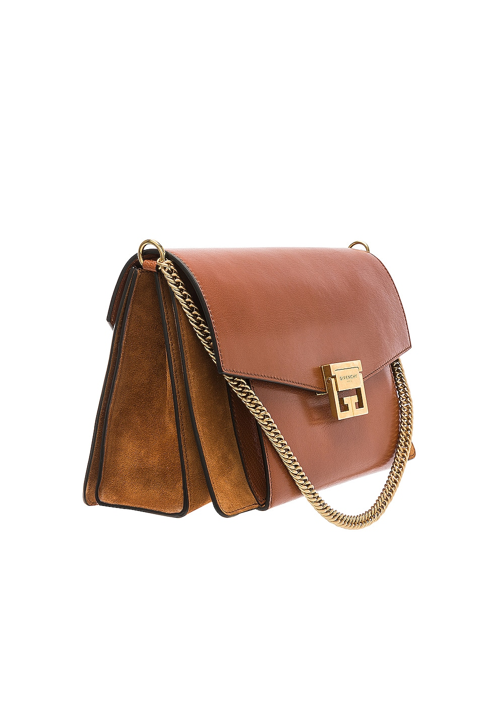 Image 4 of Givenchy Medium Leather GV3 in Chestnut