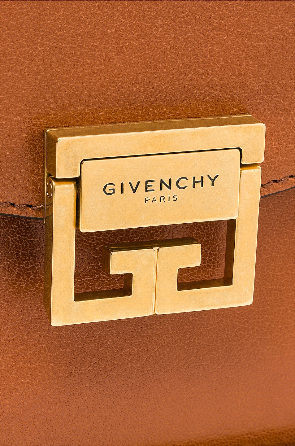 Image 8 of Givenchy Medium Leather GV3 in Chestnut