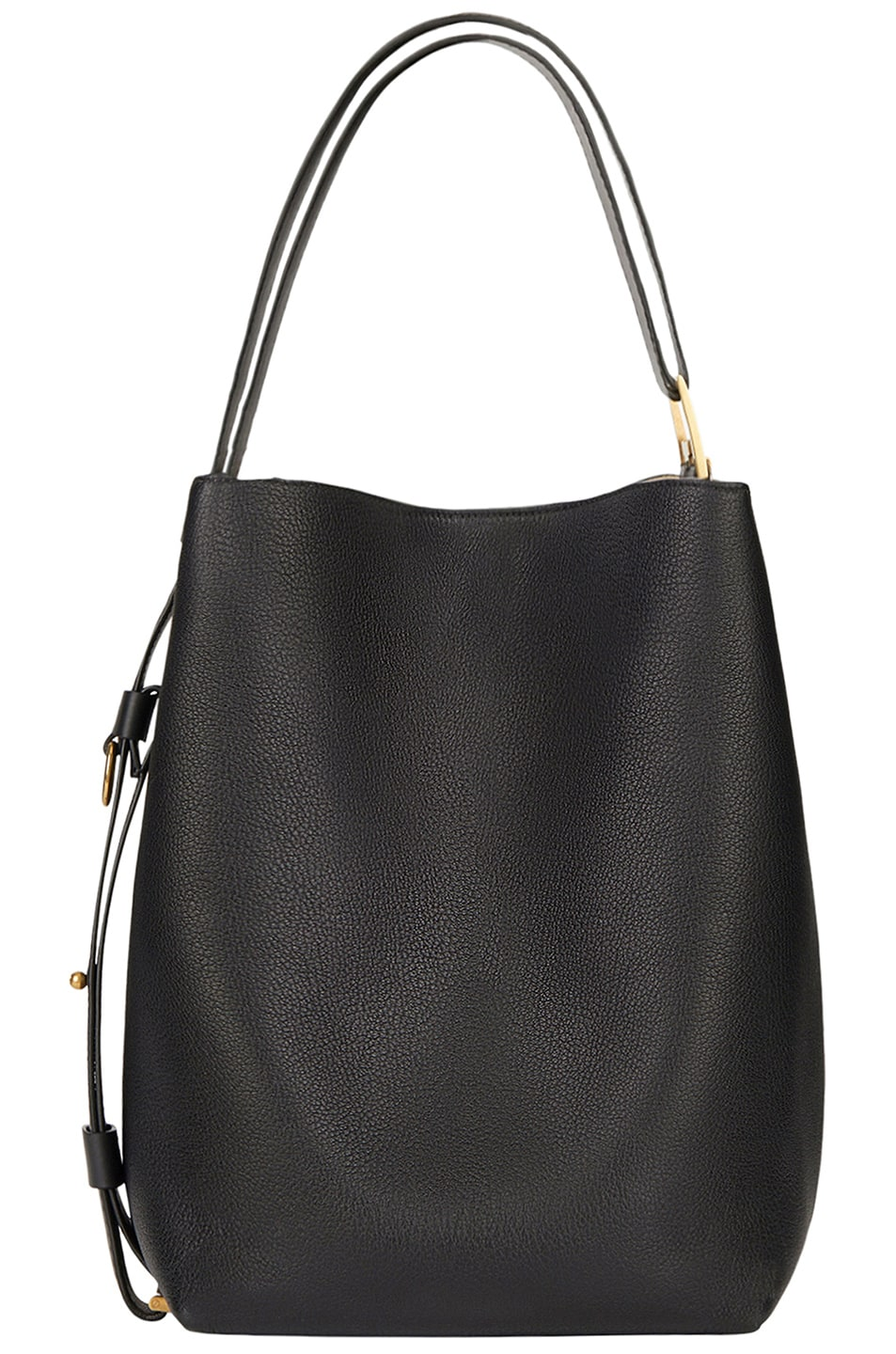 Image 2 of Givenchy Medium Leather GV Bucket Bag in Black