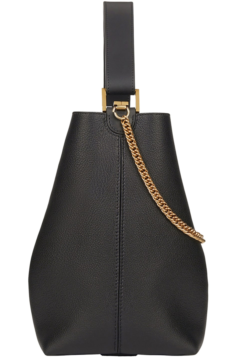 Image 3 of Givenchy Medium Leather GV Bucket Bag in Black
