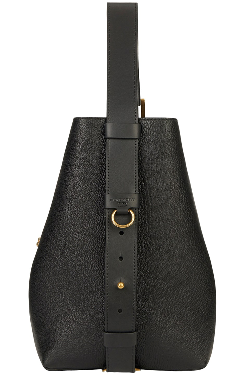 Image 5 of Givenchy Medium Leather GV Bucket Bag in Black