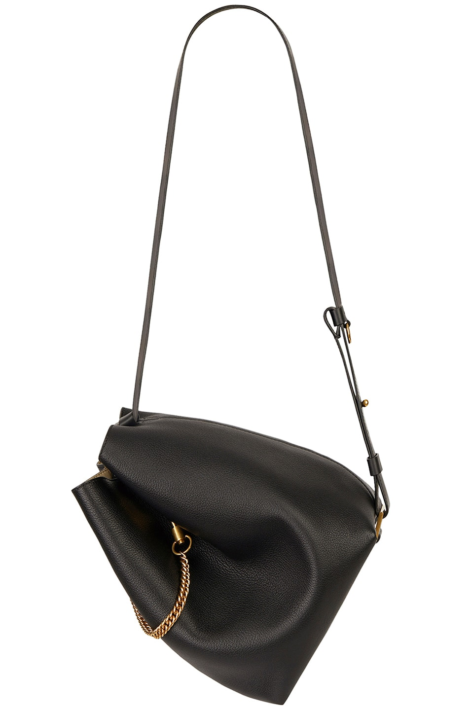 Image 6 of Givenchy Medium Leather GV Bucket Bag in Black