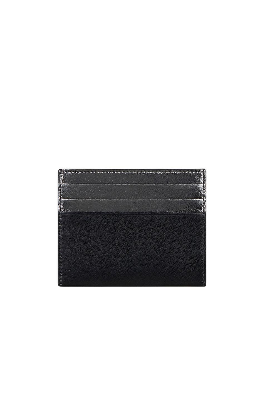Image 2 of Givenchy Emblem Card Case in Black