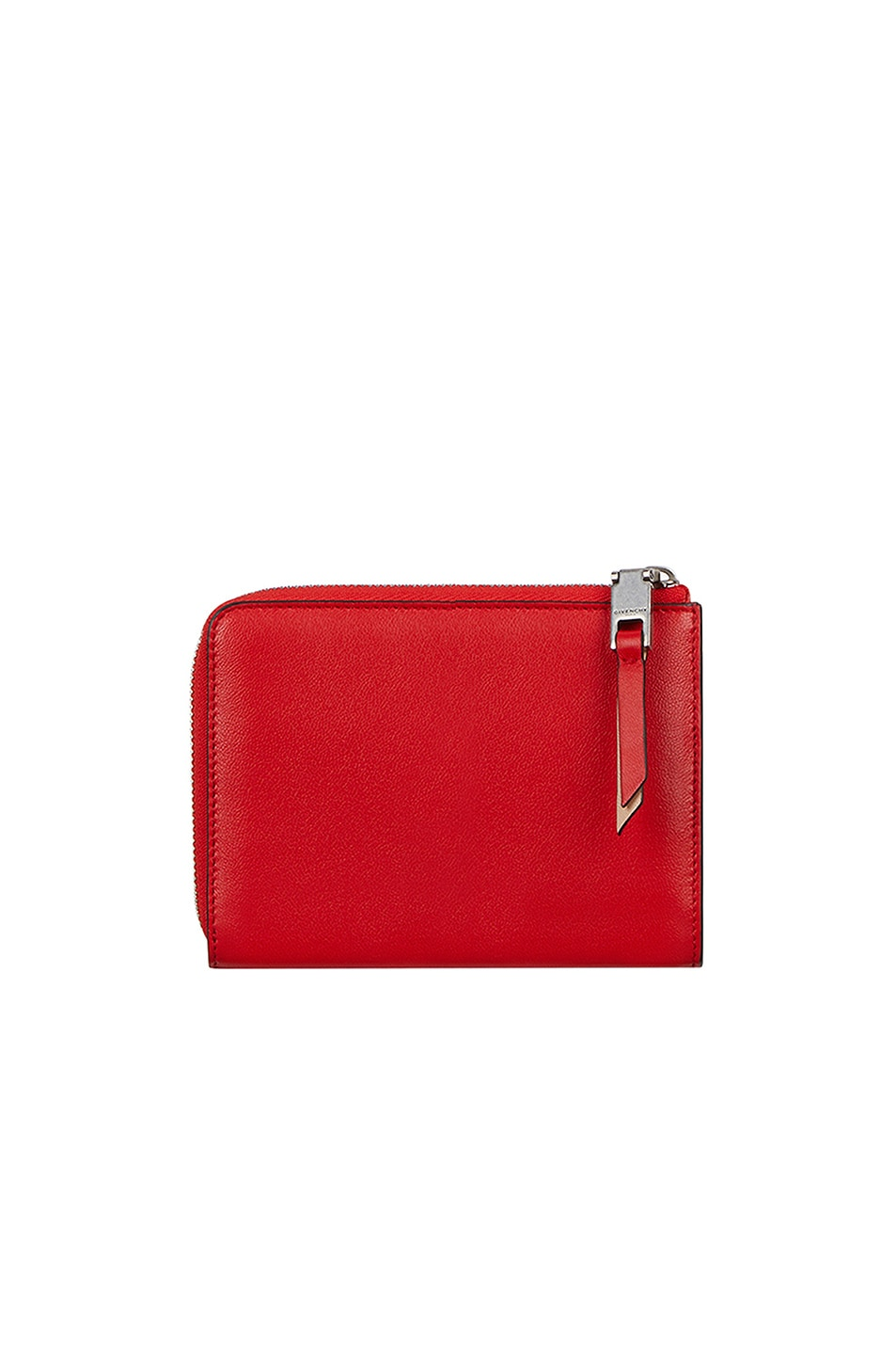 Image 2 of Givenchy Medium Emblem Zip Wallet in Poppy Red