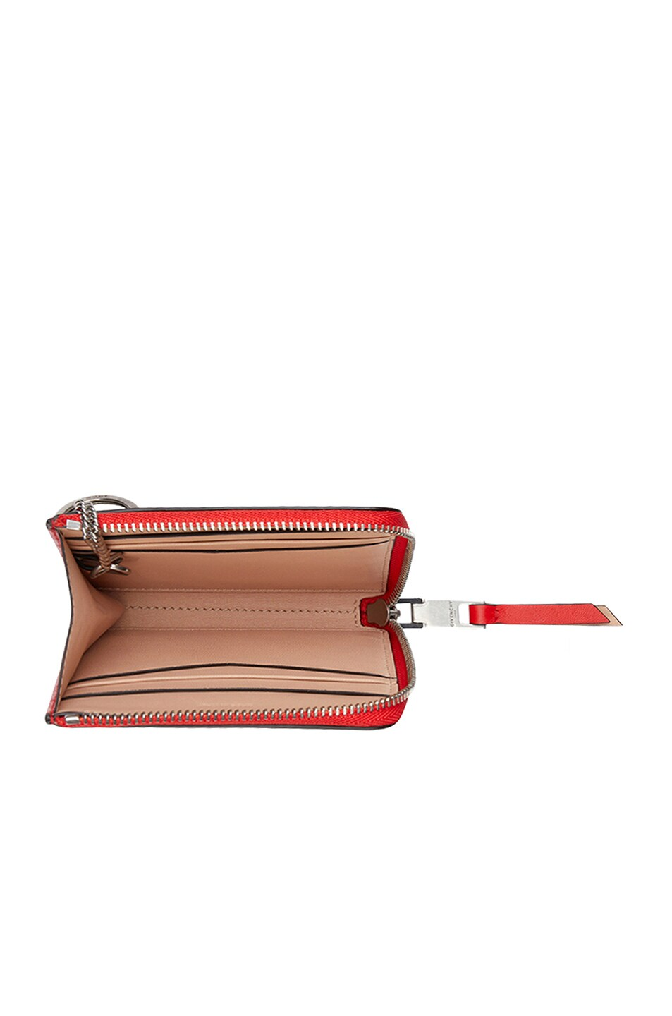 Image 4 of Givenchy Medium Emblem Zip Wallet in Poppy Red