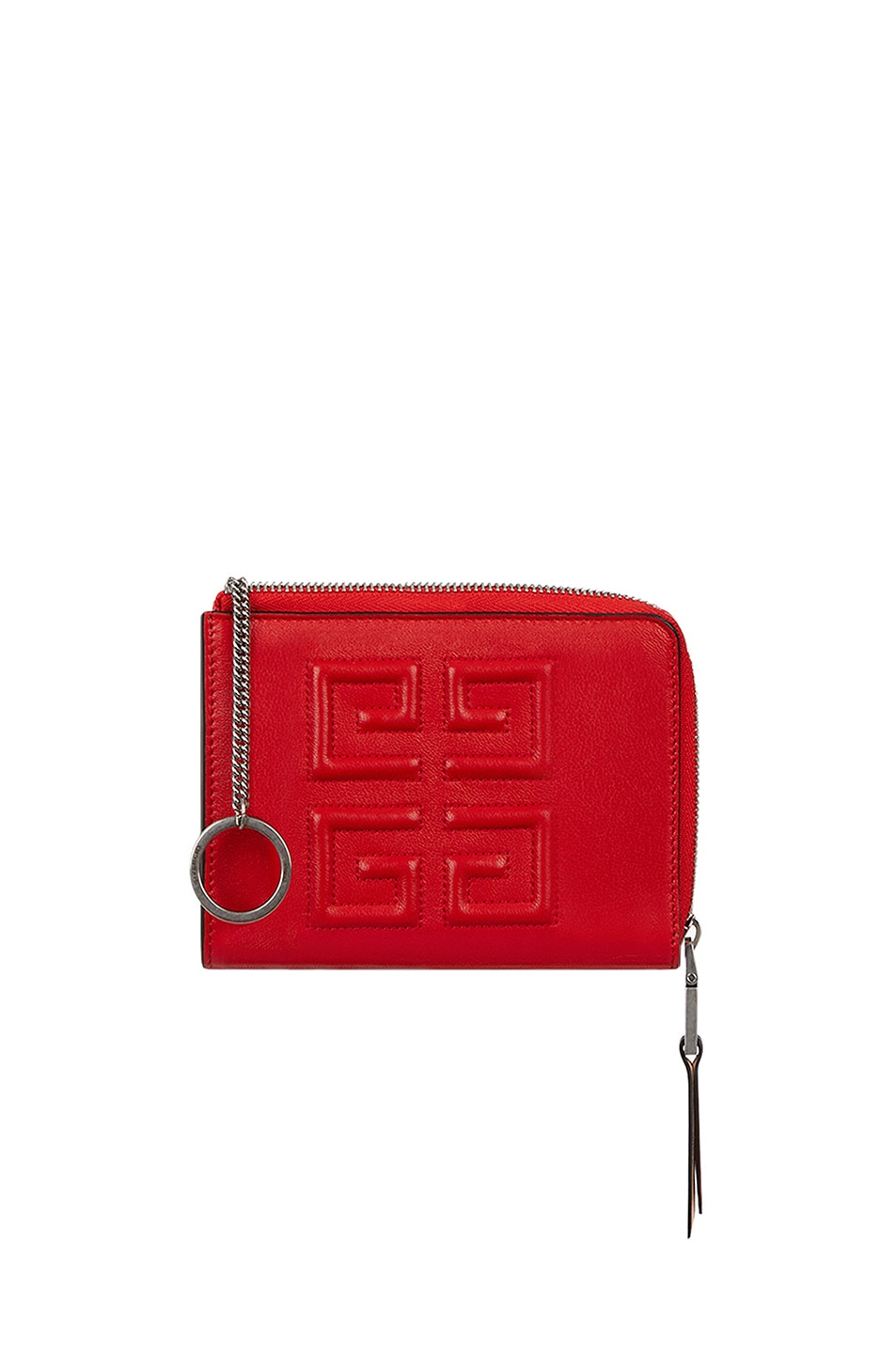 Image 5 of Givenchy Medium Emblem Zip Wallet in Poppy Red