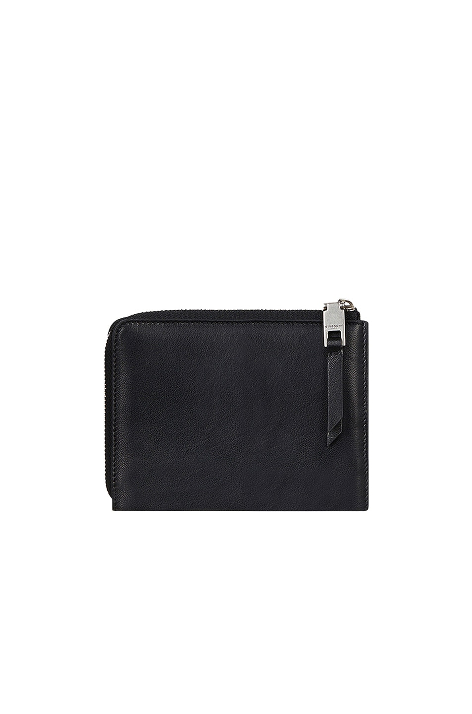 Image 2 of Givenchy Medium Emblem Zip Wallet in Black