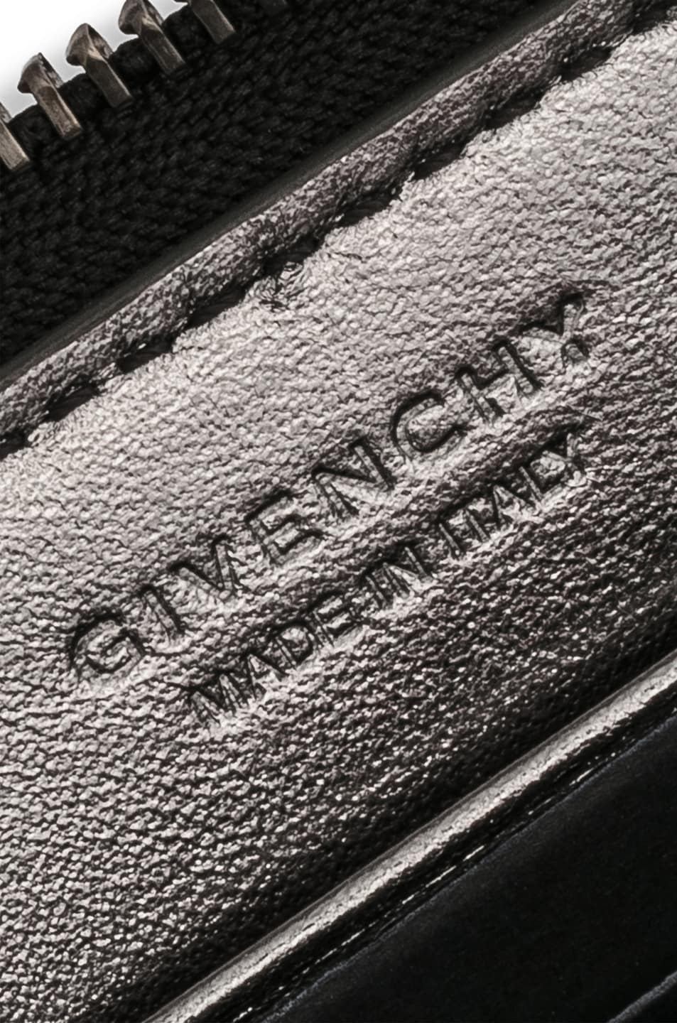 Image 6 of Givenchy Medium Emblem Zip Wallet in Black