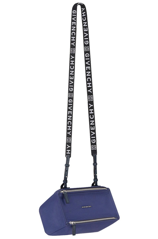 Image 1 of Givenchy Mini Logo Strap Pandora in Dark Blue