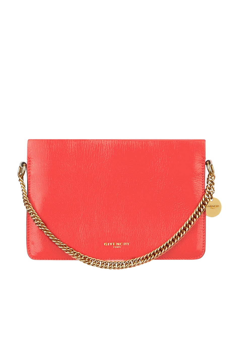 Image 1 of Givenchy Leather Crossbody Bag in Poppy Red & Sand