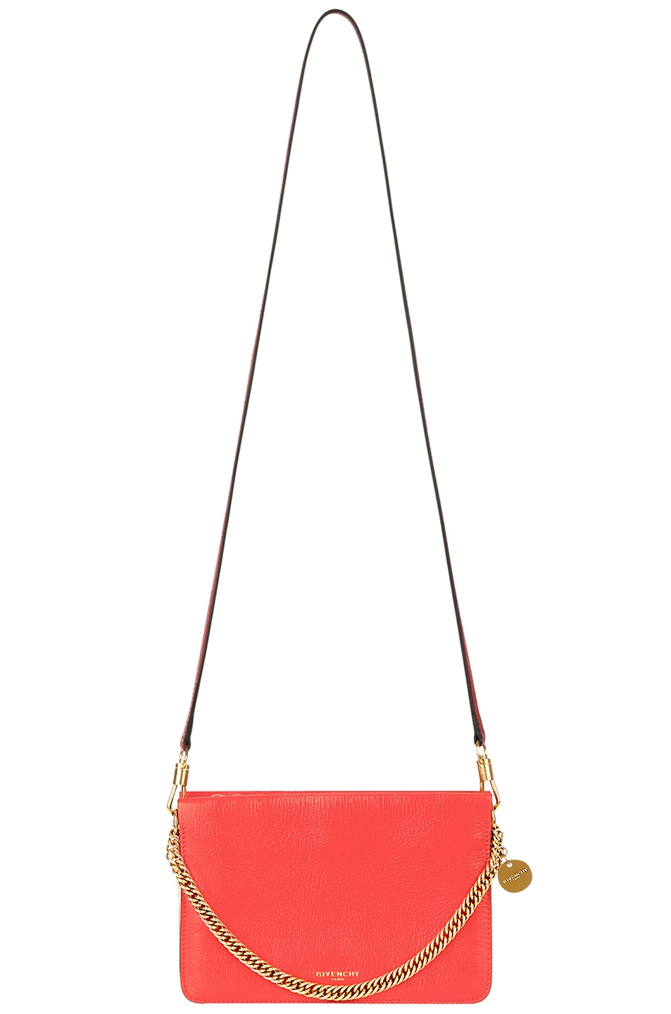 Image 3 of Givenchy Leather Crossbody Bag in Poppy Red & Sand