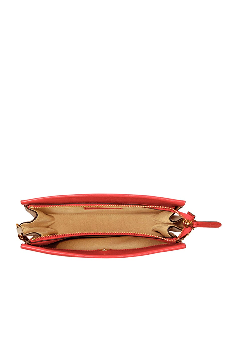 Image 6 of Givenchy Leather Crossbody Bag in Poppy Red & Sand