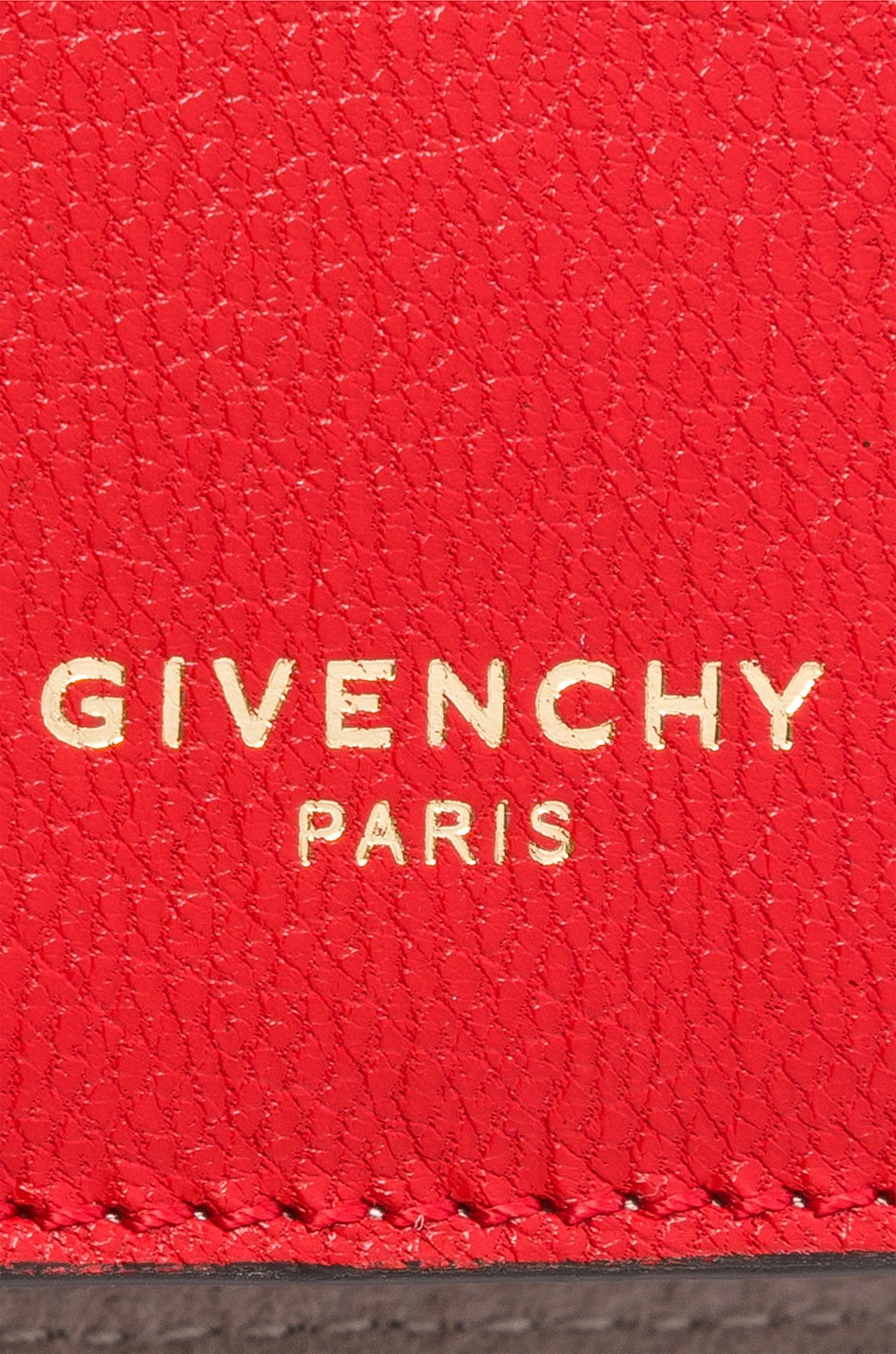 Image 7 of Givenchy Leather Crossbody Bag in Poppy Red & Sand