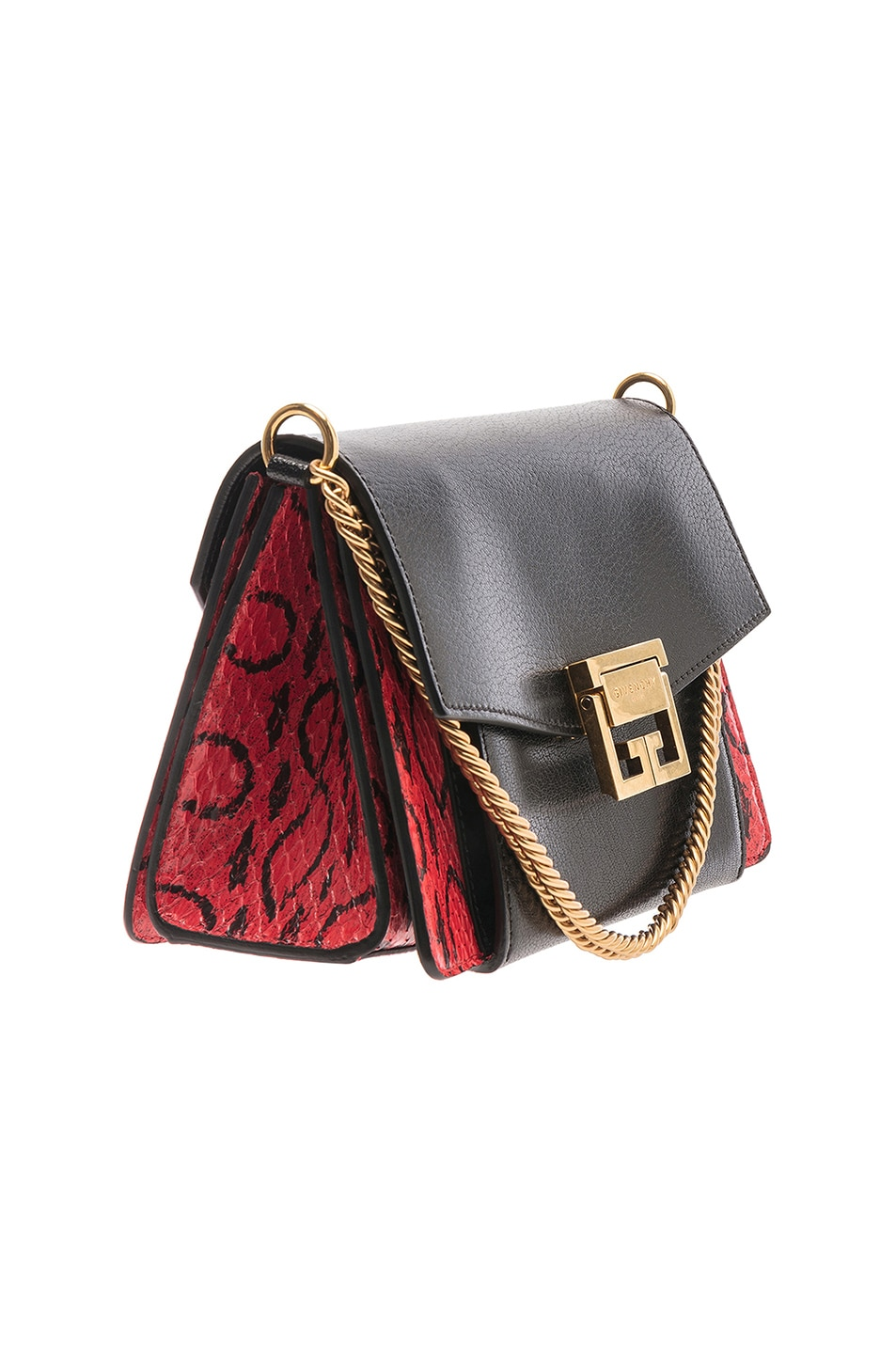 Image 4 of Givenchy Small Leather GV3 in Red & Black