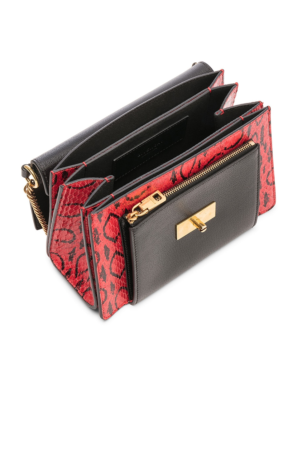Image 5 of Givenchy Small Leather GV3 in Red & Black