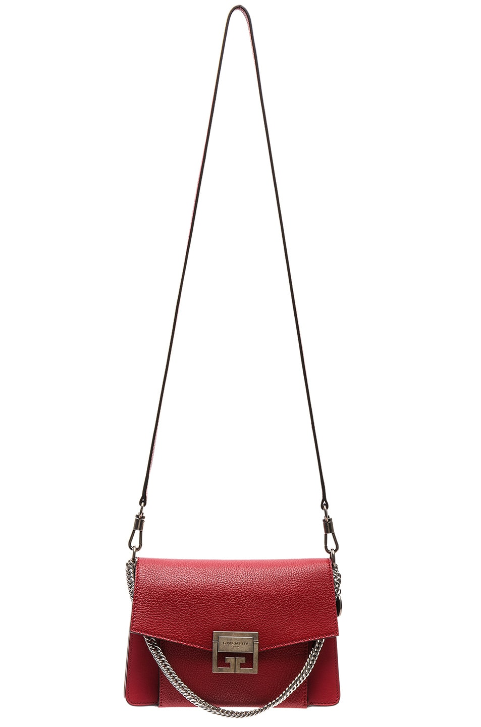 Image 6 of Givenchy Small Leather GV3 in Bright Red