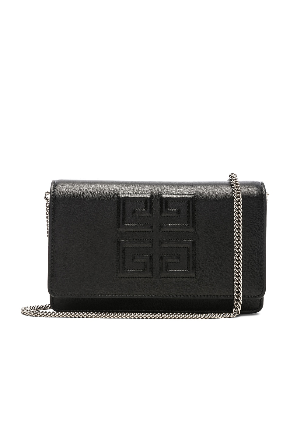 Image 1 of Givenchy Emblem Chain Wallet in Black