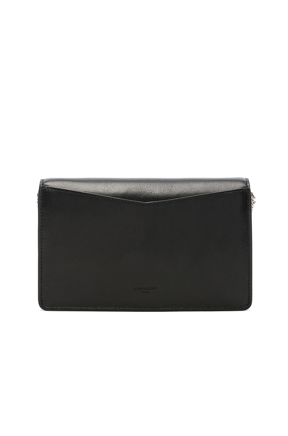 Image 3 of Givenchy Emblem Chain Wallet in Black