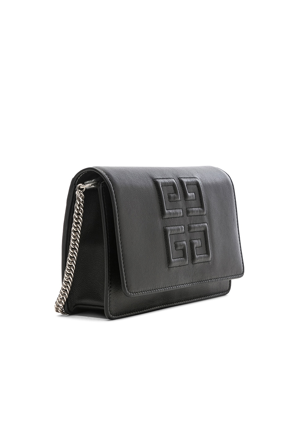 Image 4 of Givenchy Emblem Chain Wallet in Black