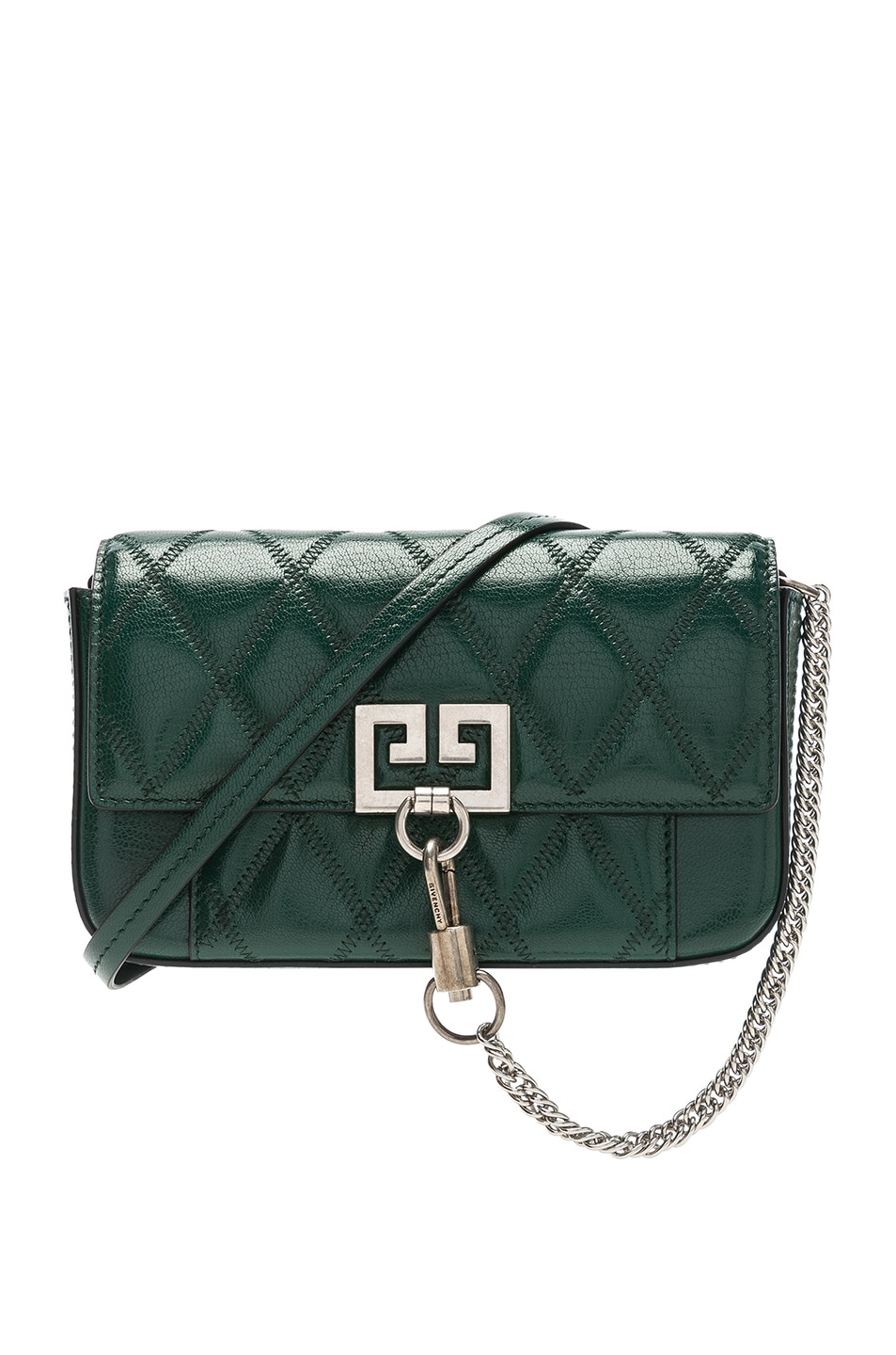 24dd930b3b38 Image 1 of Givenchy Pocket Chain Wallet in Green Forest