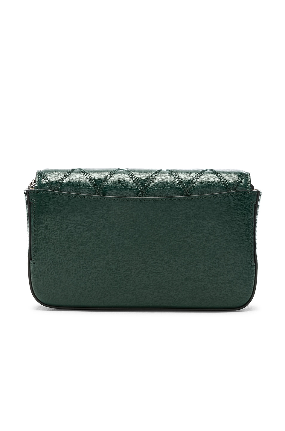 Image 3 of Givenchy Pocket Chain Wallet in Green Forest