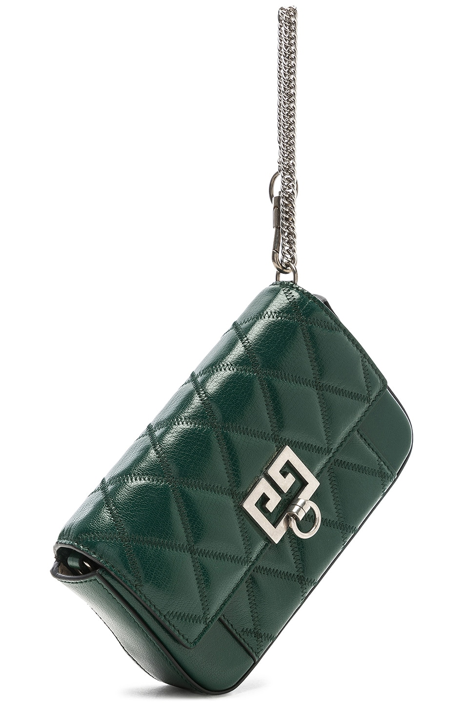 Image 4 of Givenchy Pocket Chain Wallet in Green Forest