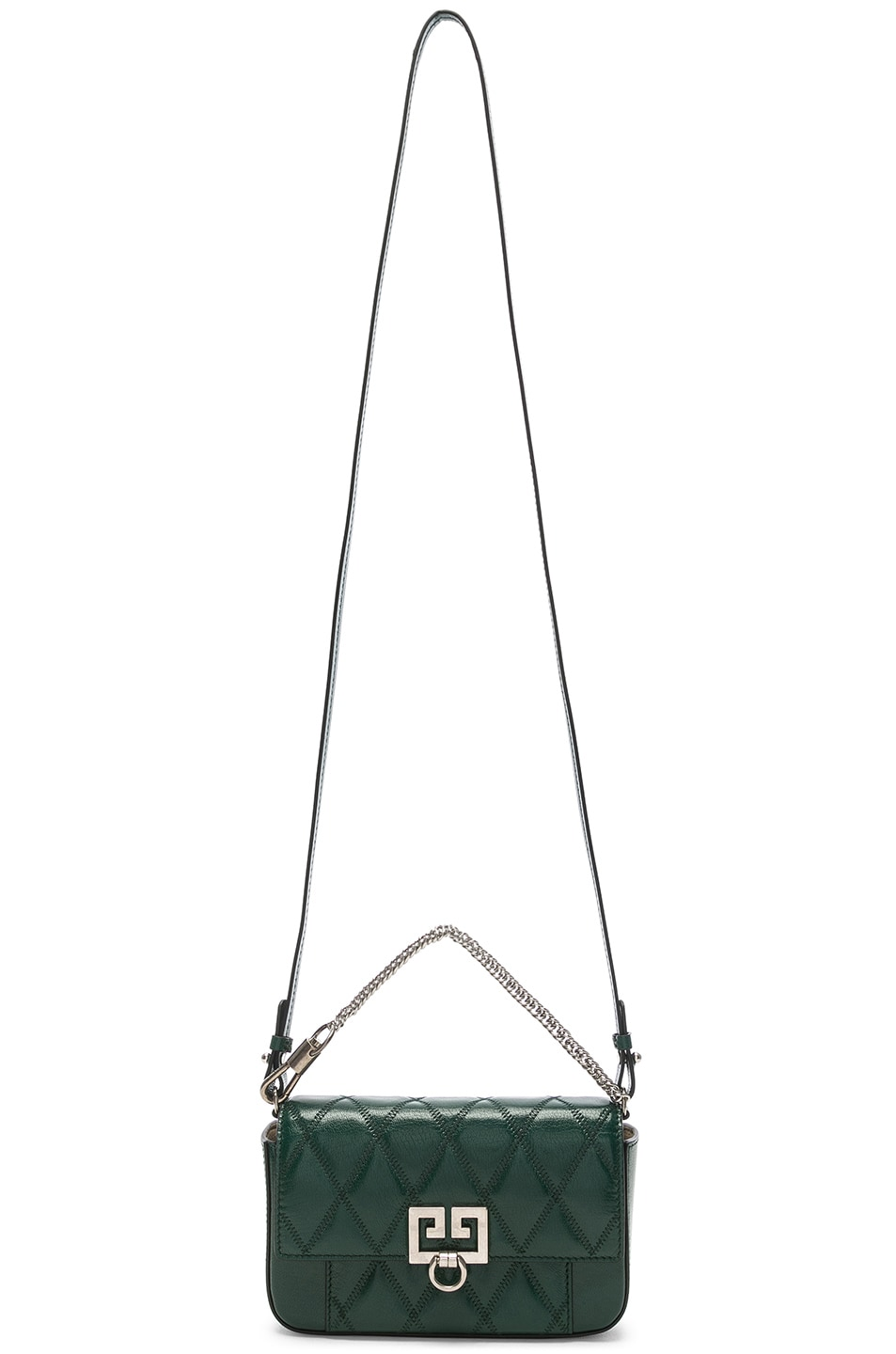 Image 6 of Givenchy Pocket Chain Wallet in Green Forest