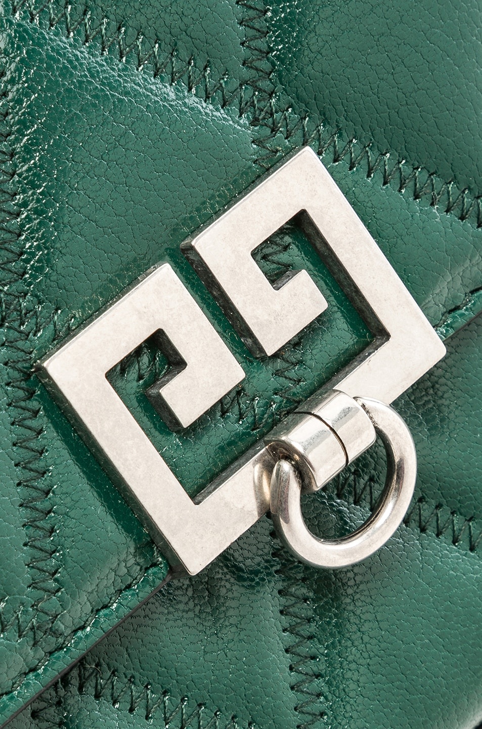 Image 8 of Givenchy Pocket Chain Wallet in Green Forest