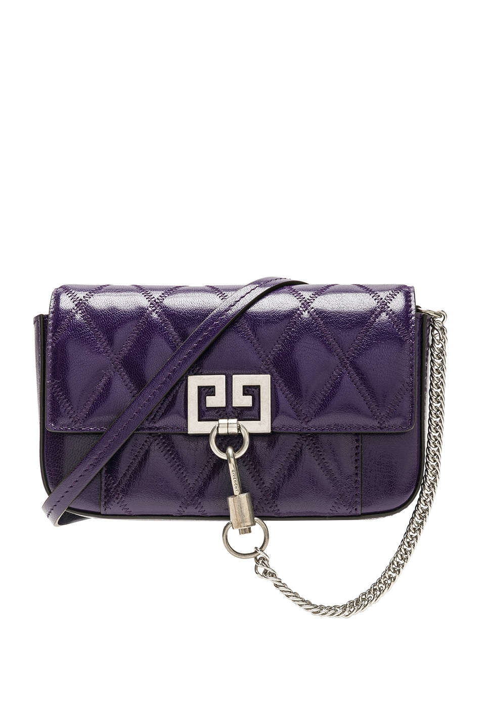 Image 1 of Givenchy Pocket Chain Wallet in Purple