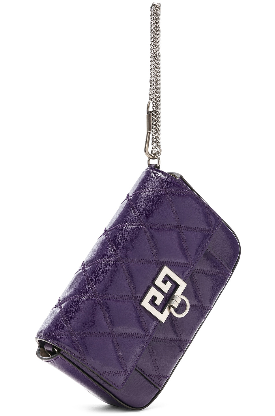 Image 4 of Givenchy Pocket Chain Wallet in Purple