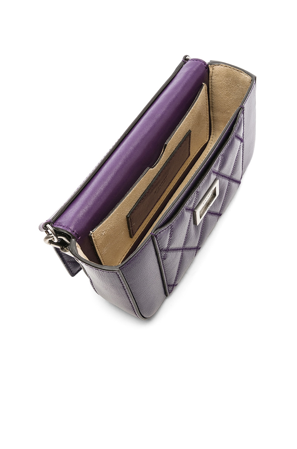 Image 5 of Givenchy Pocket Chain Wallet in Purple
