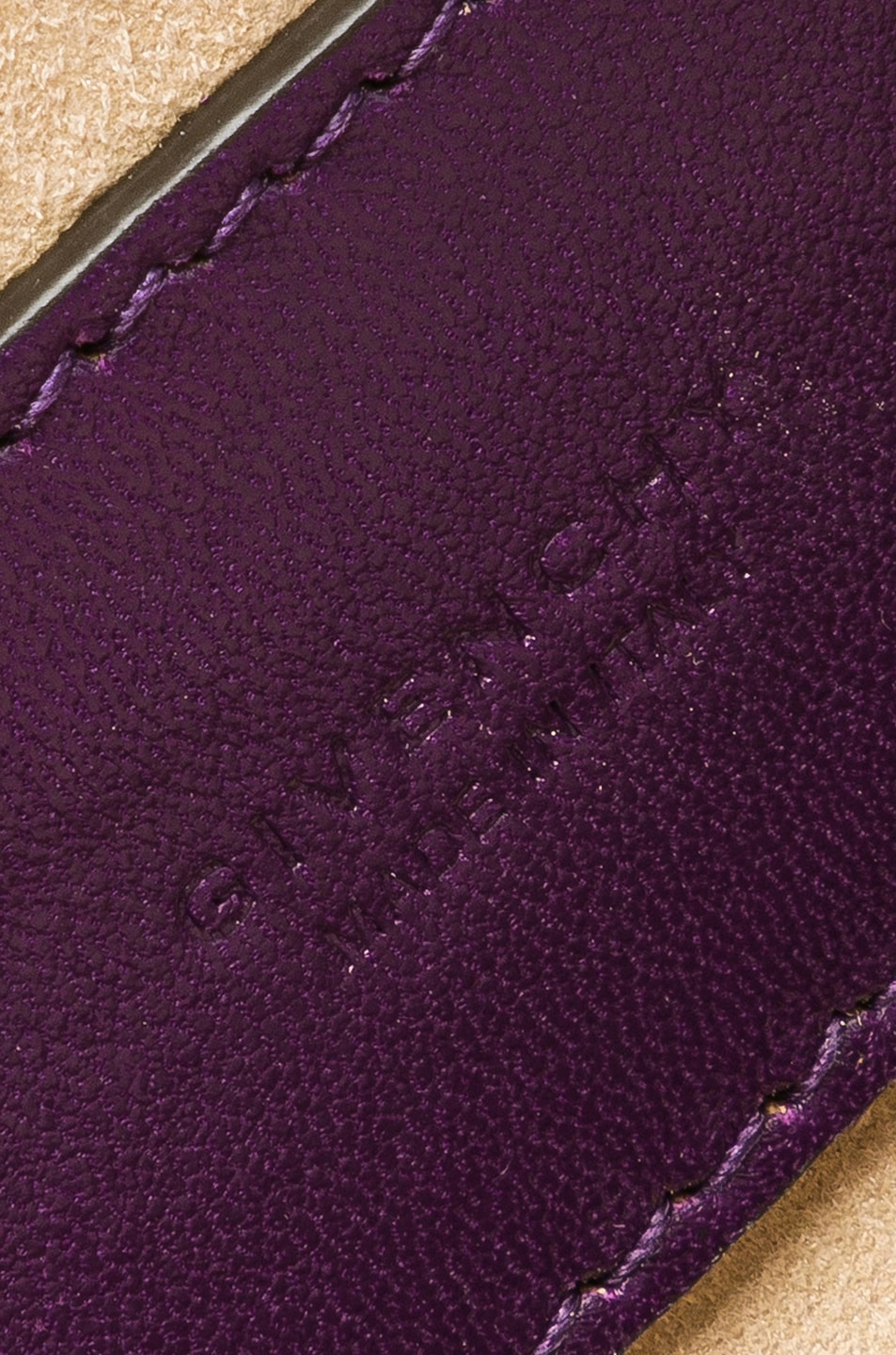 Image 7 of Givenchy Pocket Chain Wallet in Purple