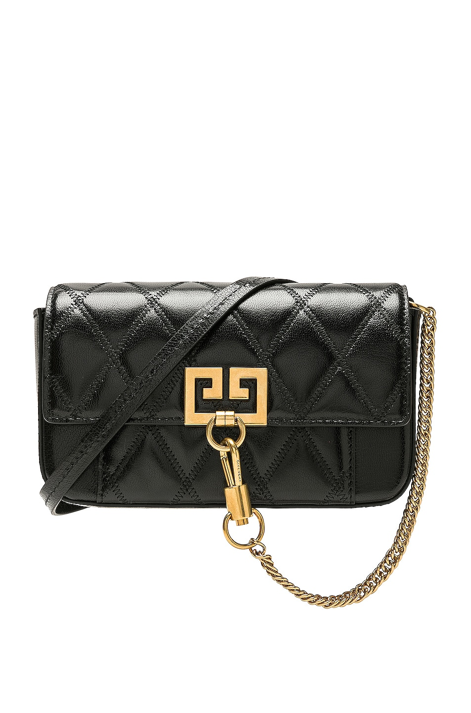 Image 1 of Givenchy Pocket Chain Wallet in Black