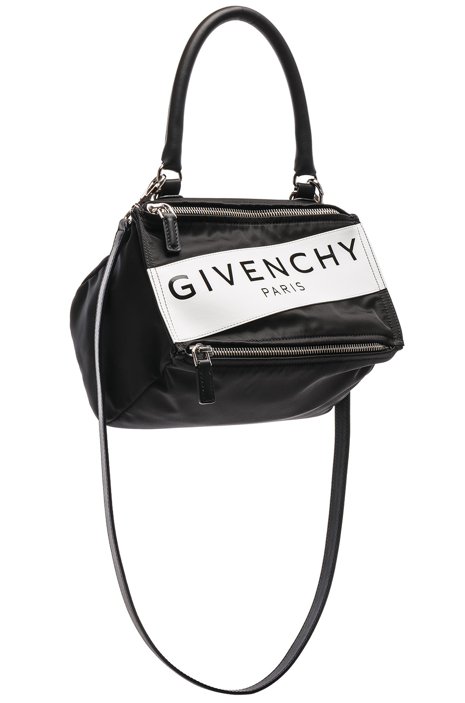 Image 1 Of Givenchy Paris Nylon Small Pandora Bag In Black
