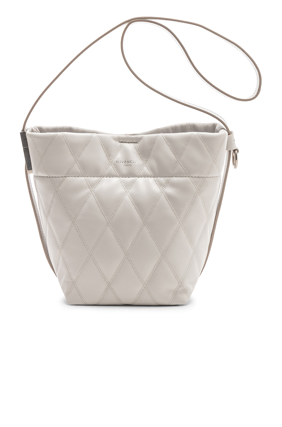 Image 1 of Givenchy Mini GV Convertible Bucket Bag in White