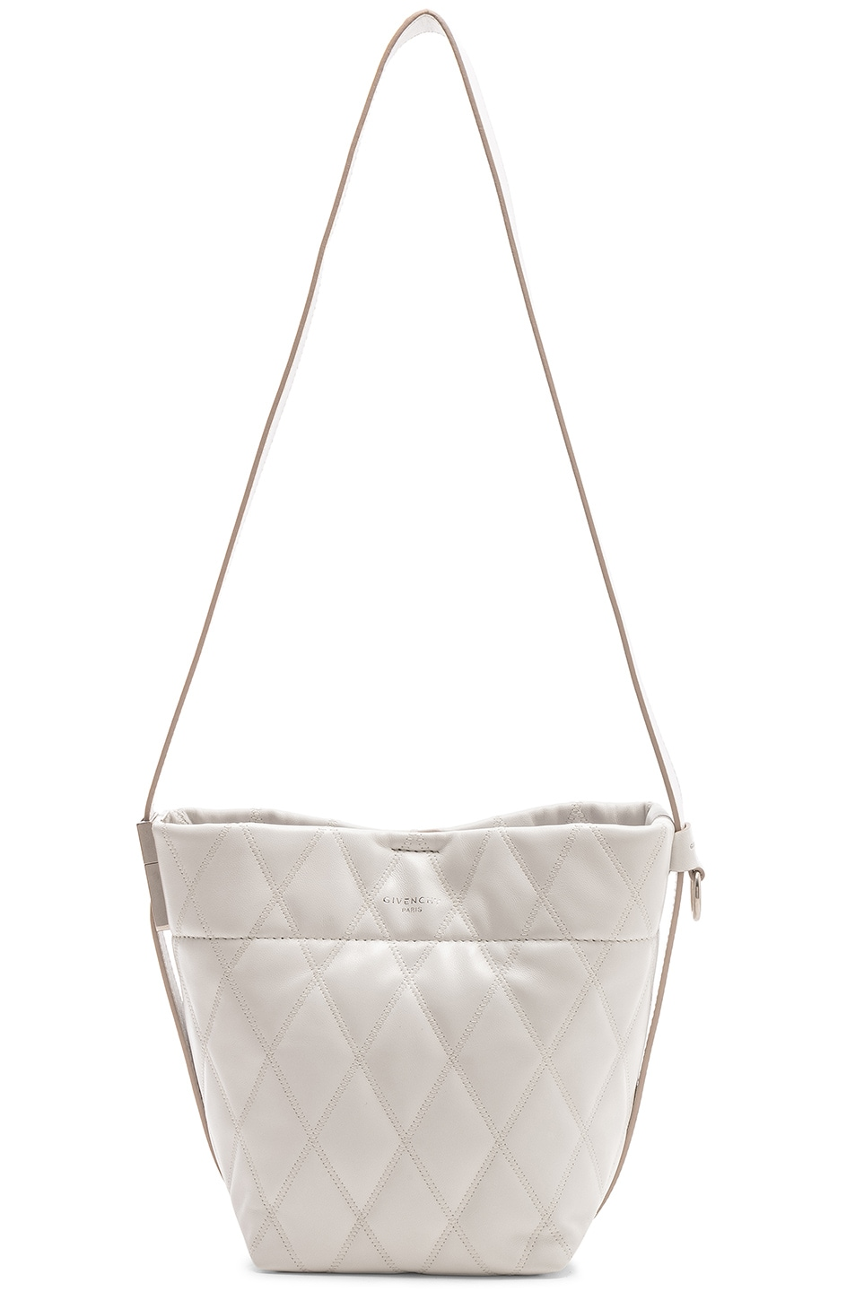 Image 6 of Givenchy Mini GV Convertible Bucket Bag in White