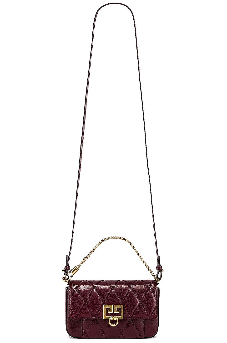 Image 6 of Givenchy Mini Pocket Chain Bag in Aubergine