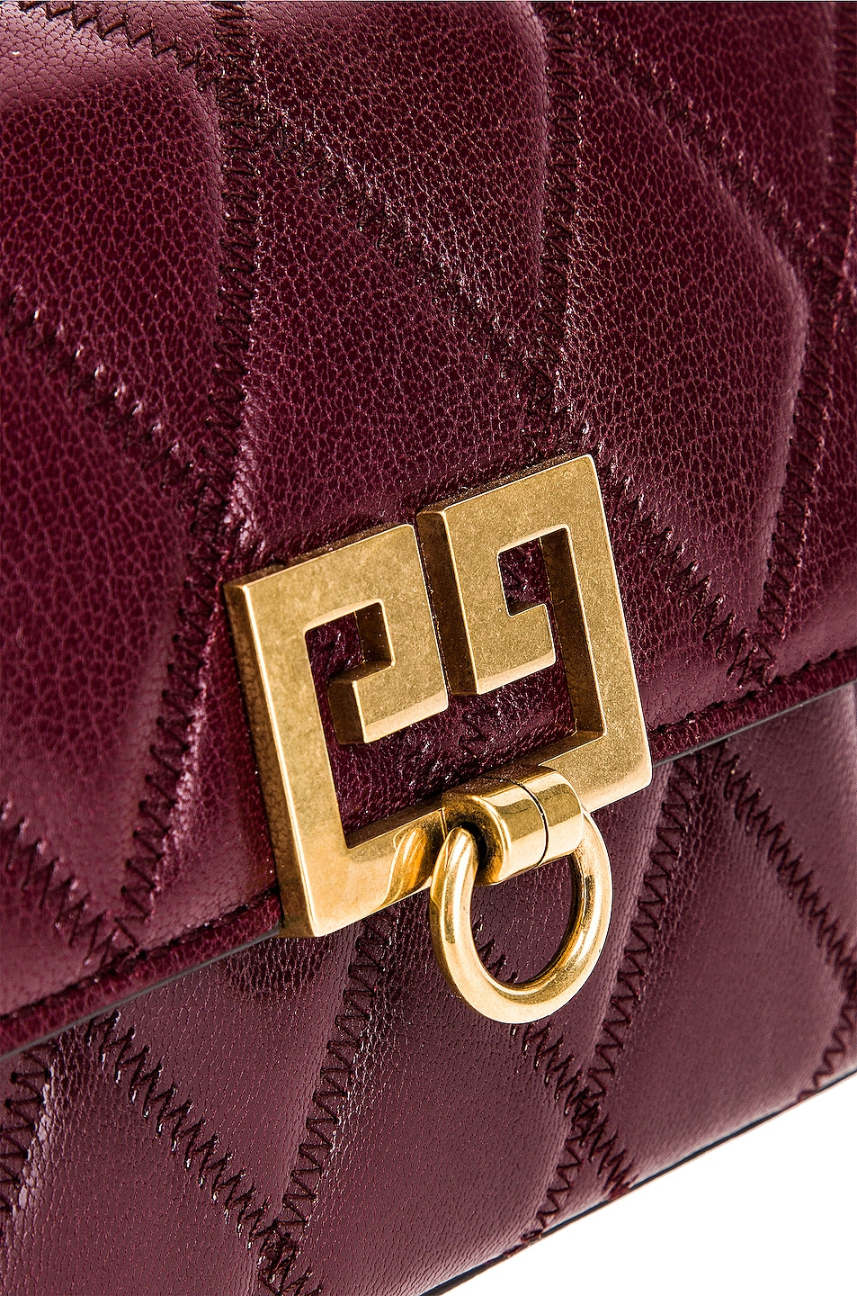 Image 7 of Givenchy Mini Pocket Chain Bag in Aubergine