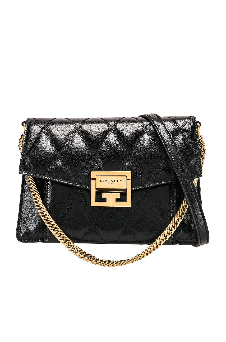 Givenchy Small Quilted Leather Gv3 In Black