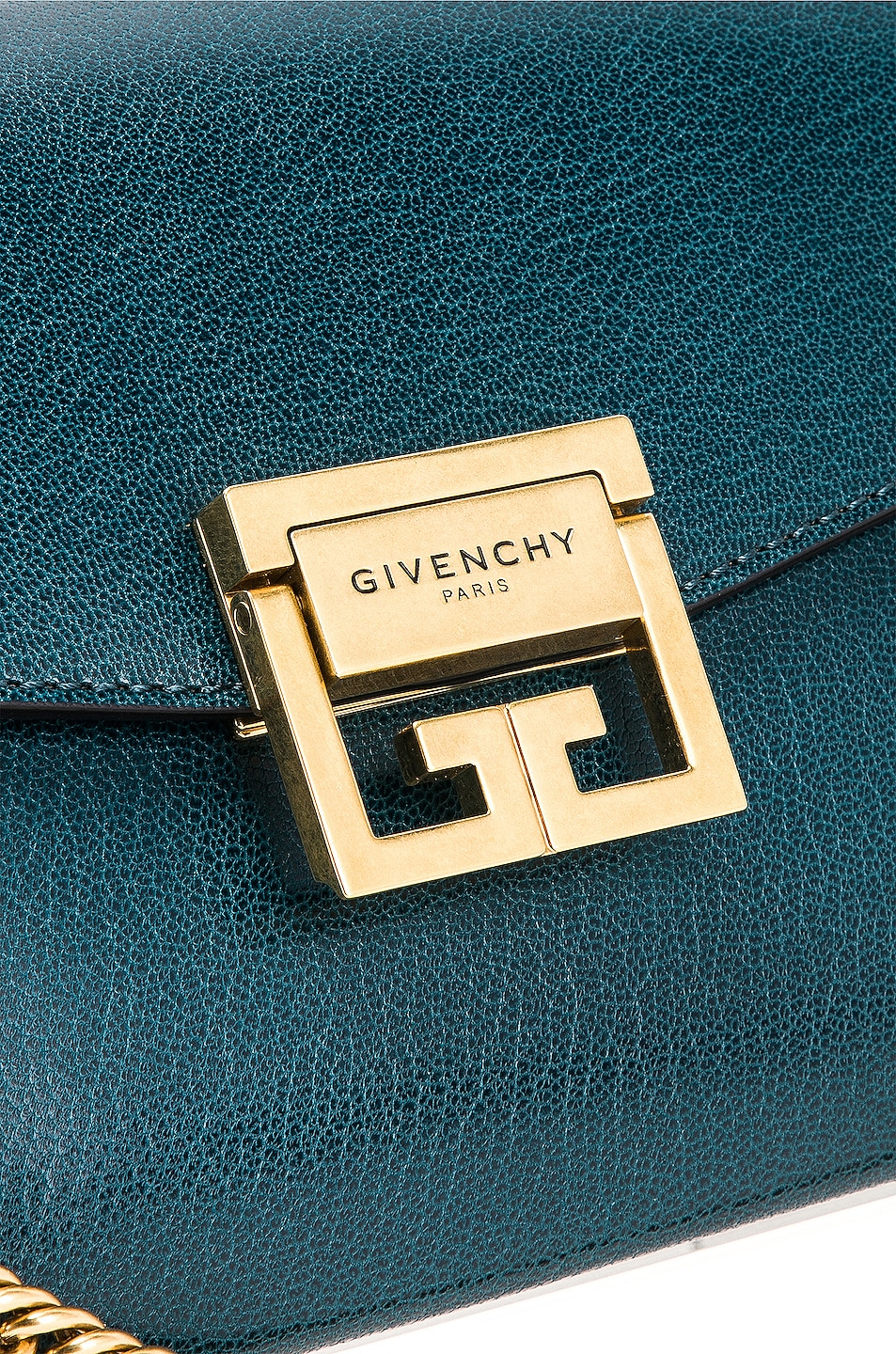 Image 8 of Givenchy Small Leather GV3 in Blue & Pistachio