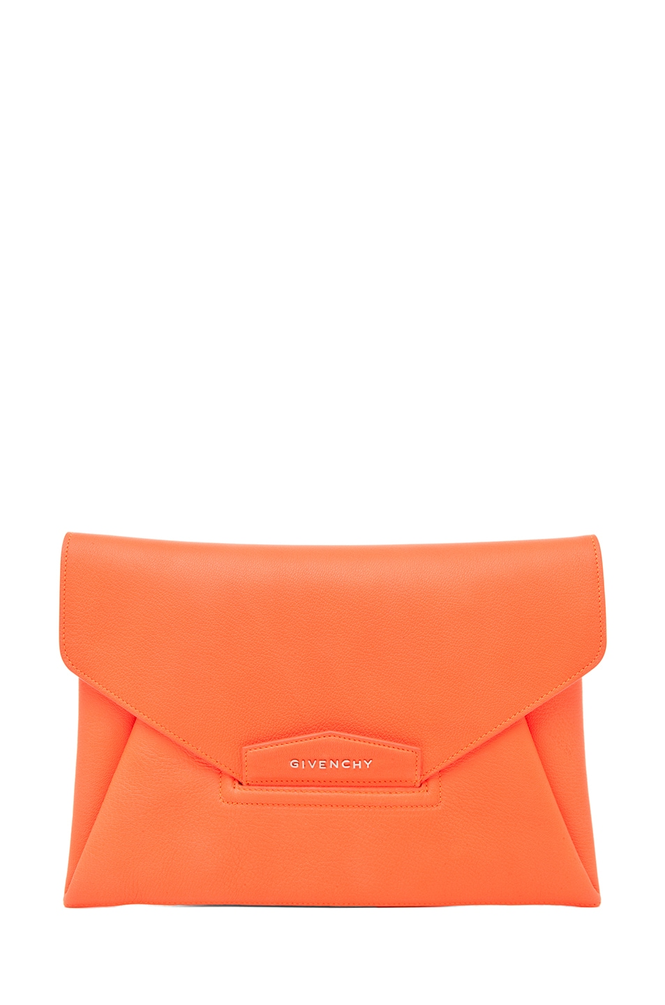 Image 1 of GIVENCHY Antigona Envelope Clutch in Bright Orange