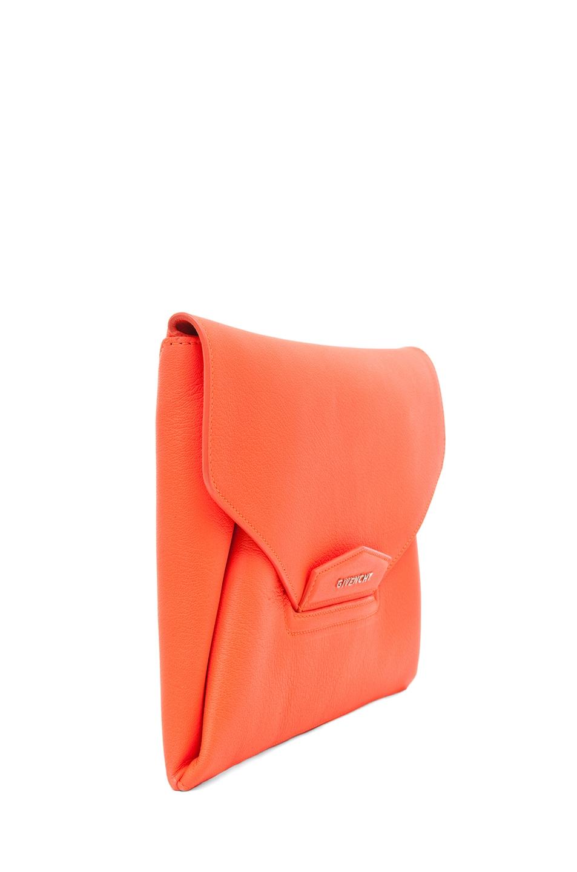 Image 3 of GIVENCHY Antigona Envelope Clutch in Bright Orange