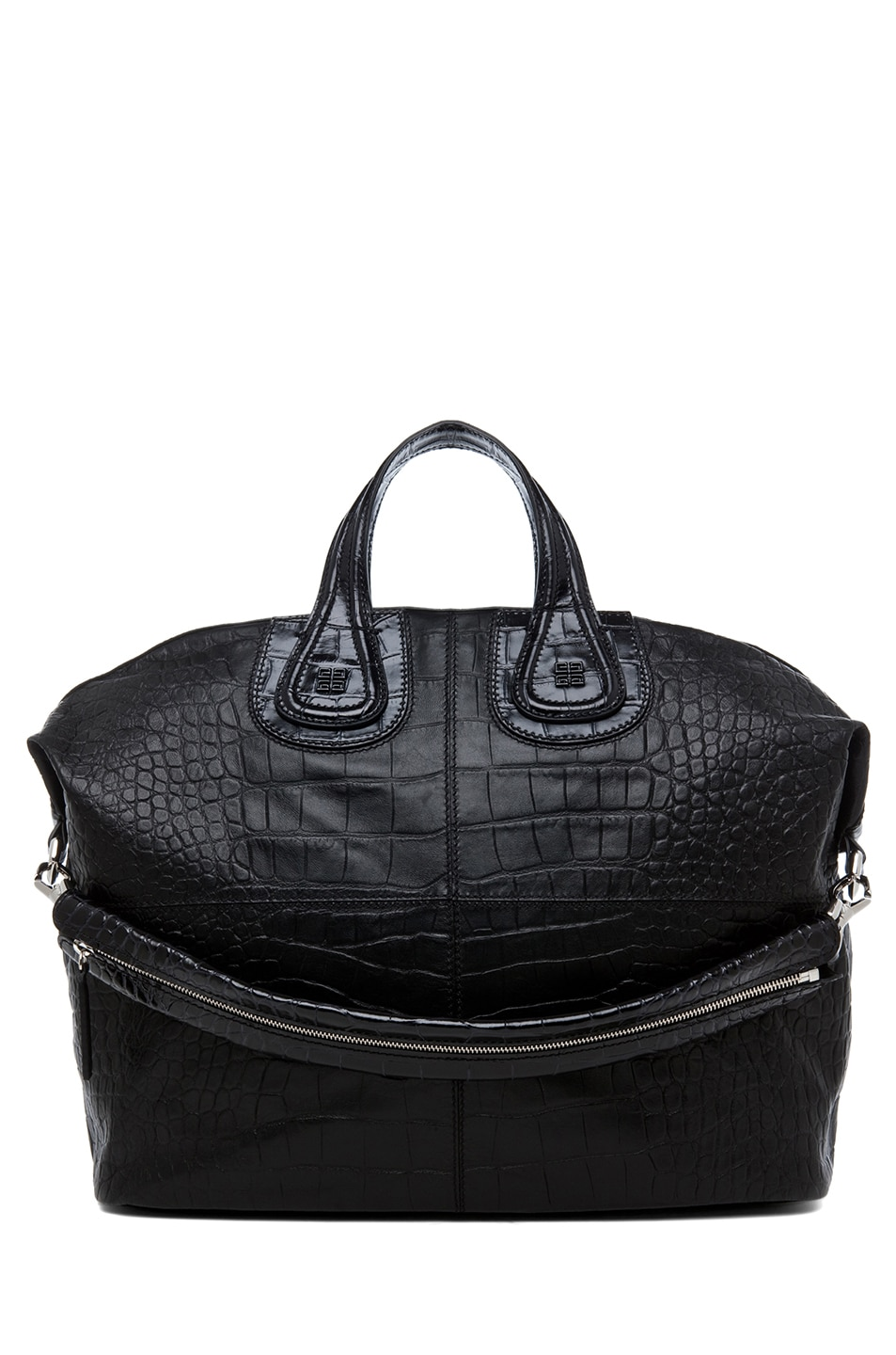 Image 1 of GIVENCHY Large Nightingale Stamped Croc in Black