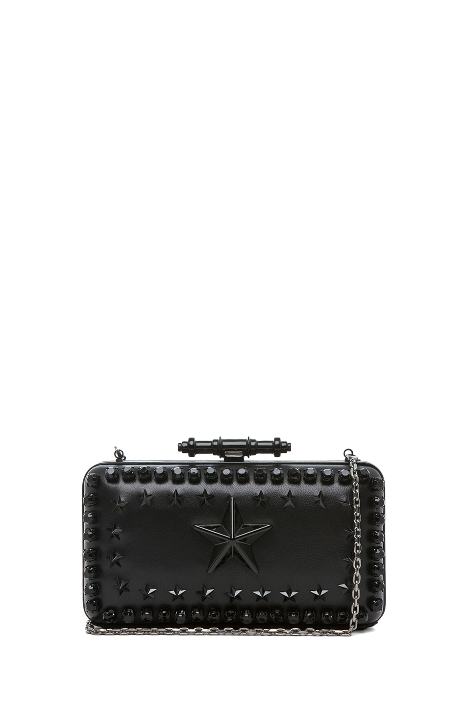 b6f35087df04 Image 1 of Givenchy Obsedia Star-Studded Minaudiere in Black