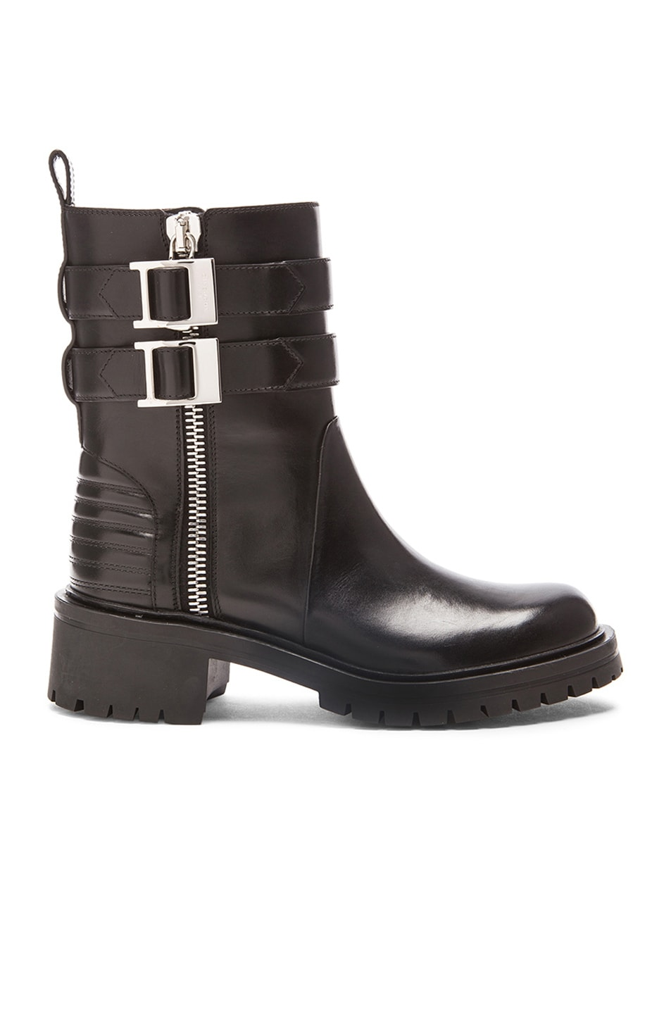 Image 1 of GIVENCHY Leather Biker Boots in Black