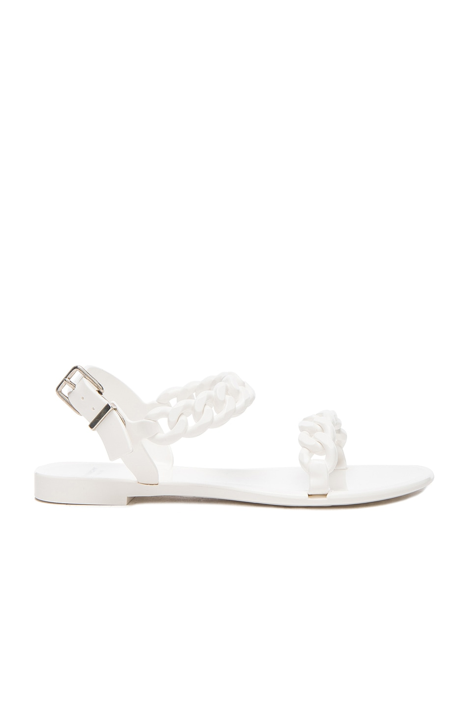 Image 1 of GIVENCHY Flat Jelly Chain Sandals in White