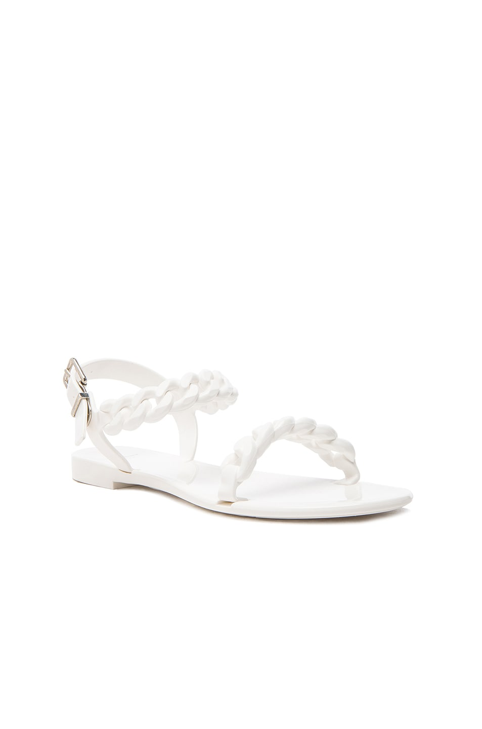 Image 2 of GIVENCHY Flat Jelly Chain Sandals in White