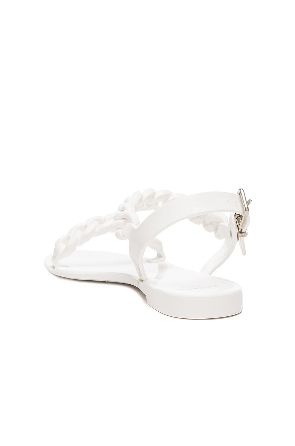Image 3 of GIVENCHY Flat Jelly Chain Sandals in White