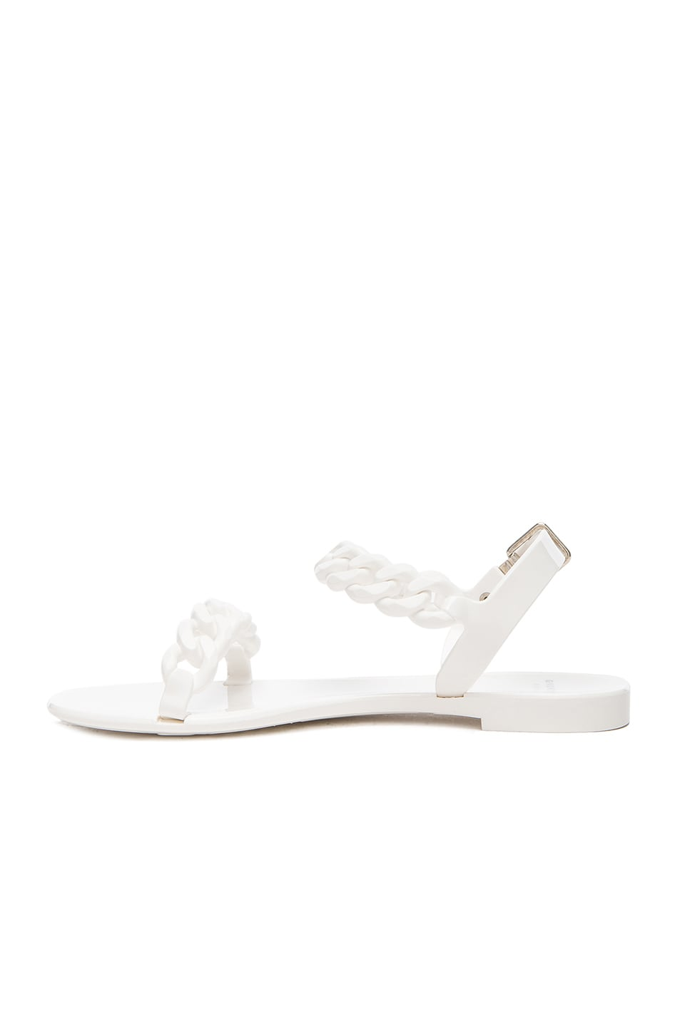 Image 5 of GIVENCHY Flat Jelly Chain Sandals in White